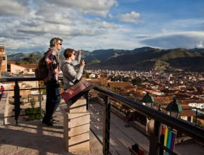 Cusco is nestled high in the Andes and offers spectacular views of the surrounding peaks.